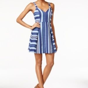 BCBGeneration Nautical Print Fit & Flare Dress